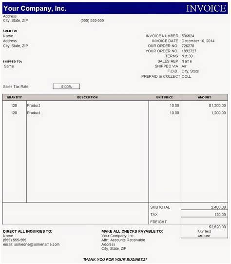 Contoh Invoice Jasa by Sle Invoice Dalam Bentuk Excel Pengadaan Eprocurement