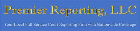 Court Reporting Services From Premier Llc