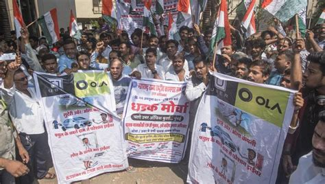 Ola, Uber Drivers Continue To Strike In Mumbai Over Fares