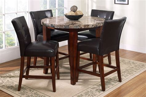 pub table with four chairs montibello round pub table 4 stools at gardner white