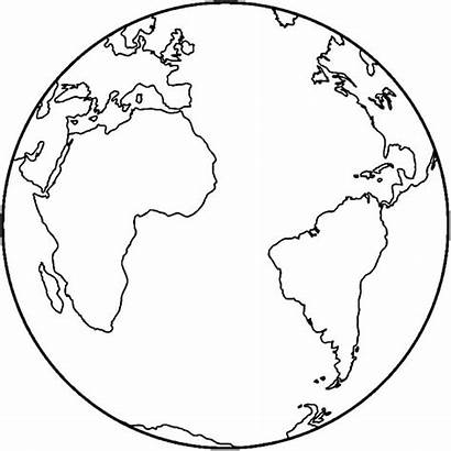 Earth Coloring Map Pages Mother Printable Simple