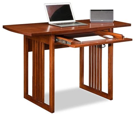 drop leaf desk with hutch leick home mission oak drop leaf computer desk view in