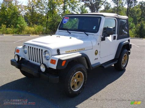 jeep eagle for sale 2006 jeep wrangler sport 4x4 golden eagle in stone white