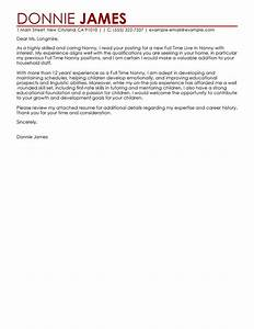 leading professional full time nanny cover letter examples With applying for a nanny position cover letter