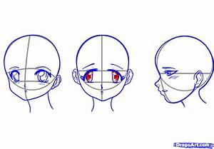 How to Draw a Sideways Anime Face Girls