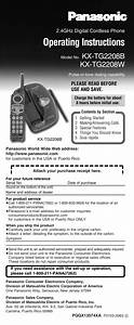 Panasonic Operating Instructions Cordless Phone Kx
