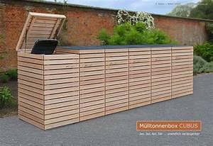 Mülltonnenverkleidung Selber Bauen : 6er m lltonnenbox hartholz 120 liter oder 240 liter ~ Watch28wear.com Haus und Dekorationen