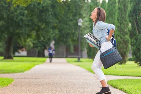 walking pain pains solved biggest while college student books campus steps holding heavy causes per loading walkers onlymyhealth walkinh rushing