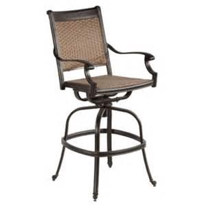Resin Wicker Chairs Canada by Alfresco Home Pilot All Weather Wicker Swivel Bar Arm