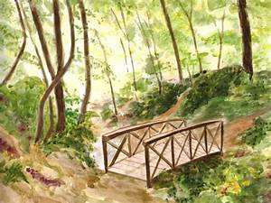 Petit Pont En Bois : le petit pont de bois les aquarelles de marie luce ~ Melissatoandfro.com Idées de Décoration