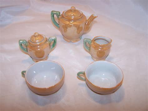 Miniature Tea Set, Lusterware, Japan, Vintage