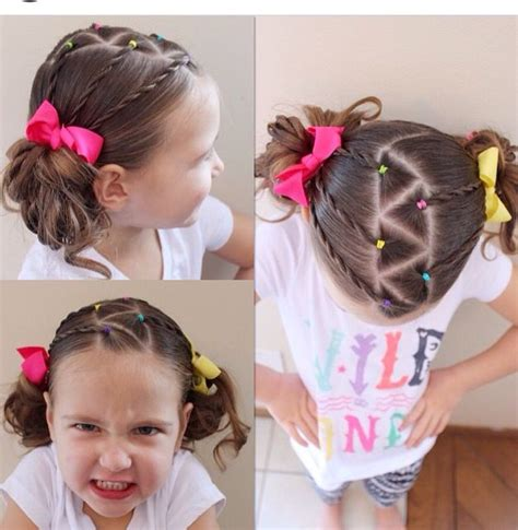 Cute criss cross pigtails Girl hair dos Little girl