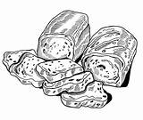 Bread Coloring Delicious Sheet Coloringsheet sketch template