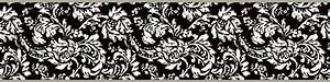 Black And White Damask Border