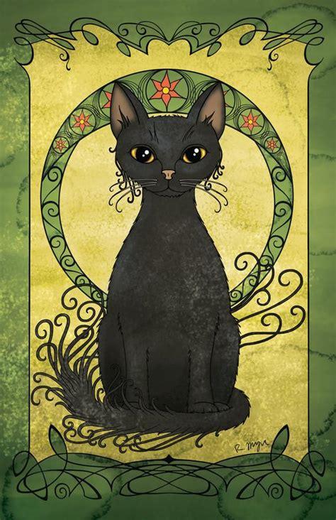 Art Nouveau Cat Poster