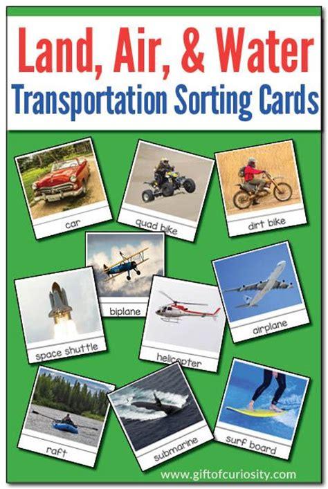sorting land air  water transportation modes
