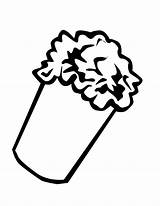 Popcorn Coloring Sheet Bucket Pages Template Kernel Printable Popular Number Coloringhome sketch template