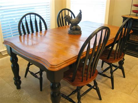kitchen farm table wood refinishing project