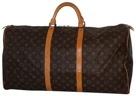 louis vuitton keepall duffle  brown monogram canvas