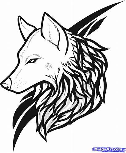 Wolf Tattoo Outline Tribal Nice Designs