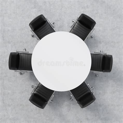 round conference table for 6 top view of a conference room a white round table and six