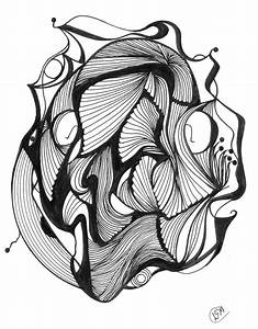 Pen and Ink Abstract Drawing | Zentangle | Pinterest