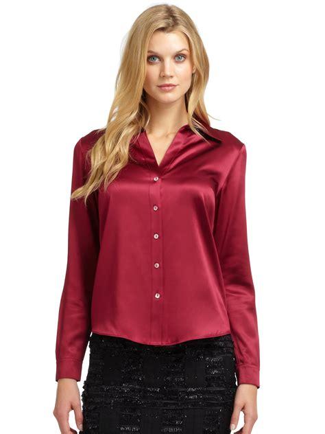 blouson blouse 24 wonderful wearing satin blouses sobatapk com