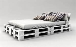 Europaletten Möbel Kaufen : palettenbett bauen weiss streichen zimmer palettenbett ~ A.2002-acura-tl-radio.info Haus und Dekorationen