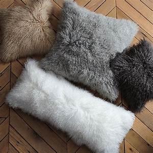 mongolian lamb pillow cover With best soft fluffy pillows