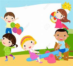 Playground clipart frame - Pencil and in color playground ...