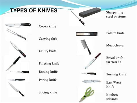 kitchen knives and their uses knife skills