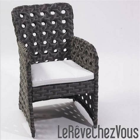 fauteuil cancun en r 233 sine tress 233 e large anthracite dcb