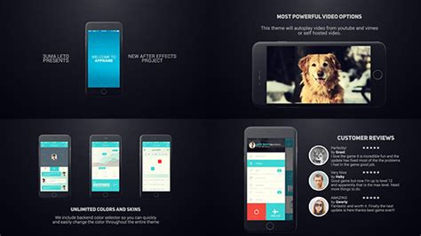 cool  effects templates  mobile app promo