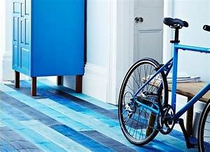 d mood mon parquet voit la vie en bleu With parquet flottant bleu