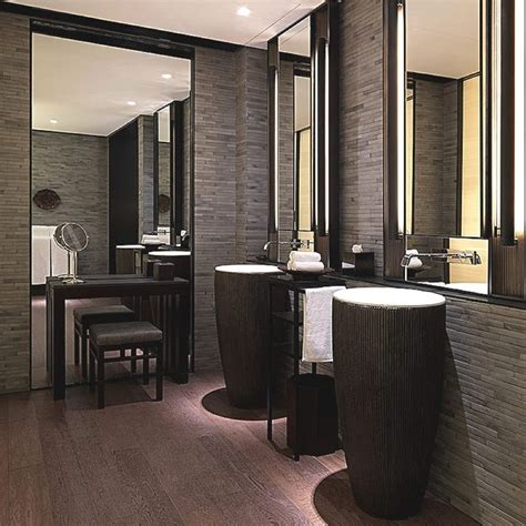 hotel restroom design indulge in shanghai chinas luxury puli hotel and spa 21 very elegant contemporary dual sink