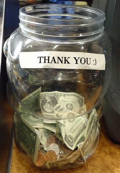 Jar Tip Tipping Restaurant Tips Signs Usual