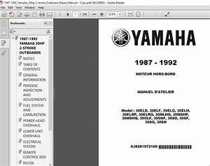 1987 - 1992 Yamaha 30hp 2 Stroke Outboard Repair Manual - Pdf Download