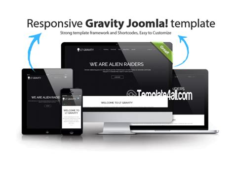 Black Responsive Joomla Template by Lt Gravity Black Responsive Corporation Joomla Template