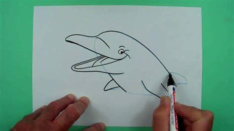 Wie Malt Einen by Wie Malt Einen Delphin Zeichnen F 252 R Kinder