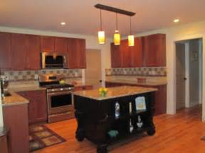 Kitchen Island Cabinets Cherry Color Kitchen Cabinets And Isles Home Design And Decor Reviews