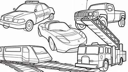 Transportation Coloring Pages Limo Limousine Vehicle Vehicles