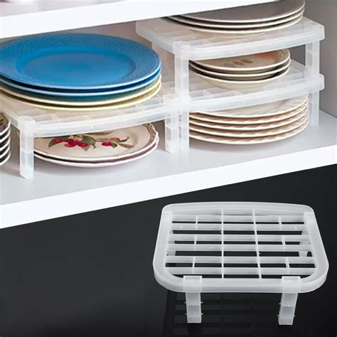 Foldable Plastic Dish Plate Drying Rack Organizer Storage
