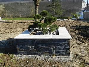 Terrasse Avec Muret : faire un muret de jardin ~ Premium-room.com Idées de Décoration