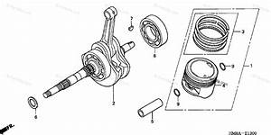 Honda Atv 2005 Oem Parts Diagram For Crankshaft Piston