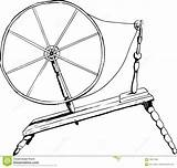 Charkha Outline Clipart Wheel Spinning Clipground Related sketch template