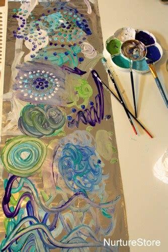 craft ideas on canvas simple ideas painting on foil nurturestore 3928
