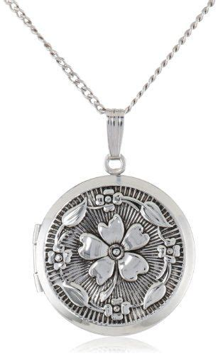 Antique Sterling Silver Locket Necklace