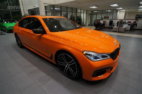 unique car colors 2017 bmw 750i in the unique and flashy orange color