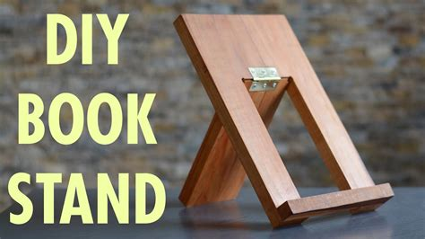 diy book stand  beginner woodworking project build