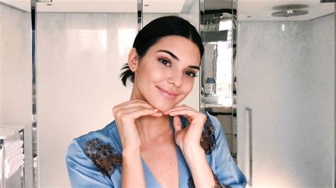 kendall jenner shares   minute morning beauty routine vogue